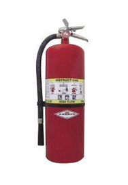 Amerex® 20 Pound Regular Dry Chemical 60-B:C High Flow Portable Fire Extinguisher For Class B And C Fires With Chrome Plated Brass Valve, Wall Bracket, Hose And Nozzle