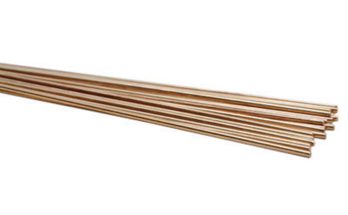 """36/"""" x 1//8/""""- 1 Lb ERCuSi-A Silicon Bronze TIG Welding Rod"""