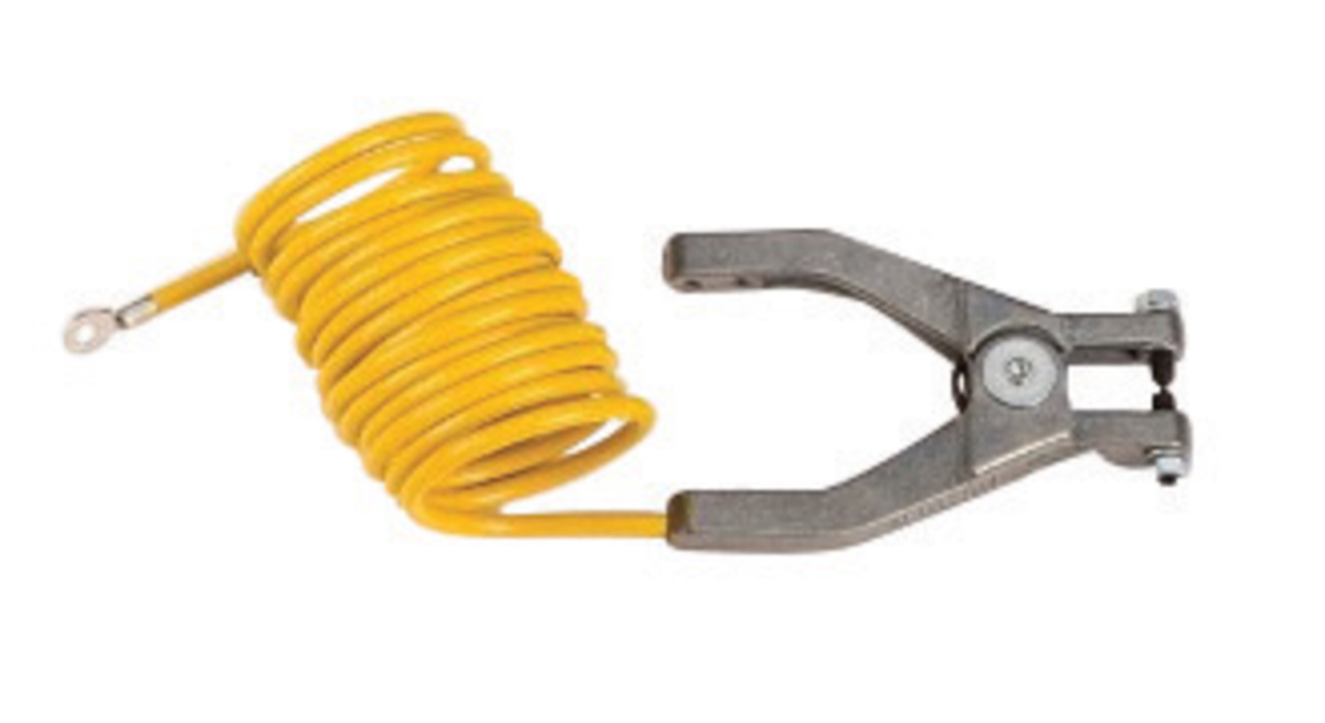 Insulated Ground Clamps : Airgas jtr justrite vinyl coated grounding