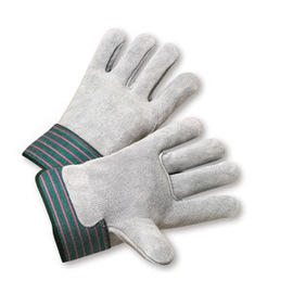 Radnor Large Shoulder Split Leather Palm Gloves With Shoulder Split Leather Back And Safety Cuff