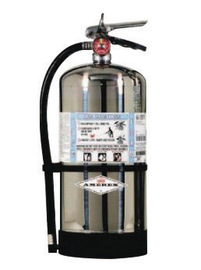Amerex® 6 Liter Stored Pressure AFFF Foam 2A:10B Fire Extinguisher For Class A And B Fires With Metal Valve, Wall Bracket, Hose And Spray Nozzle