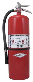 Amerex® 20 Pound Stored Pressure Purple K Dry Chemical 120-B:C Fire Extinguisher For Class B And C Fires With Chrome Plated Brass Valve, Wall Bracket, Hose And Nozzle
