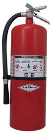 Amerex® 20 Pound Stored Pressure Regular Dry Chemical 120-B:C Fire Extinguisher For Class B And C Fires With Anodized Aluminum Valve, Wall Bracket, Hose And Nozzle