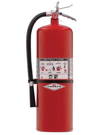 Amerex® 20 Pound Stored Pressure Purple K Dry Chemical 120-B:C Fire Extinguisher For Class B And C Fires With Anodized Aluminum Valve, Wall Bracket And Nozzle