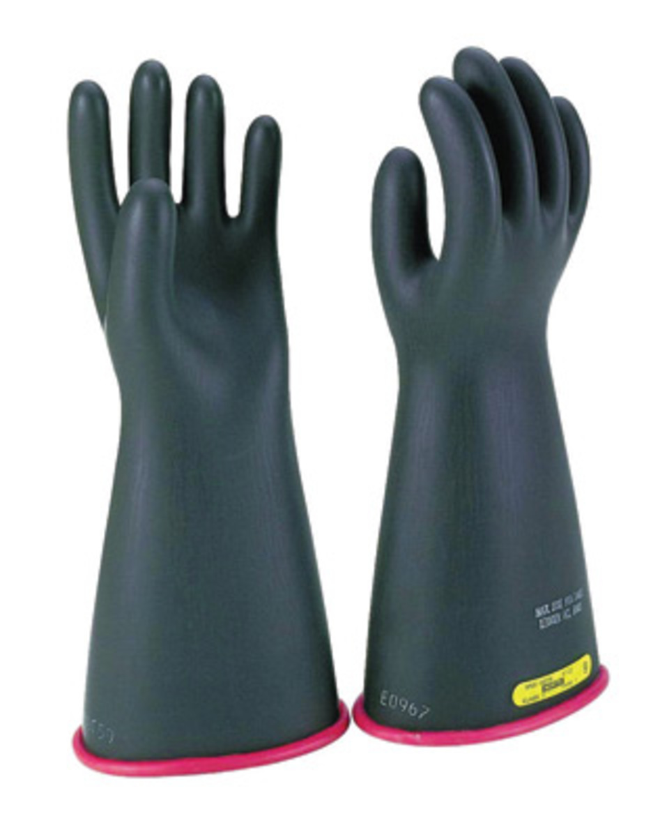 High Voltage Rubber Gloves : Airgas w e rb salisbury by honeywell size