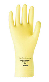 Ansell Size 11 Natural Technicians™ Unlined Lined 13 mil Latex And Neoprene And Rubber Chemical Resistant Gloves