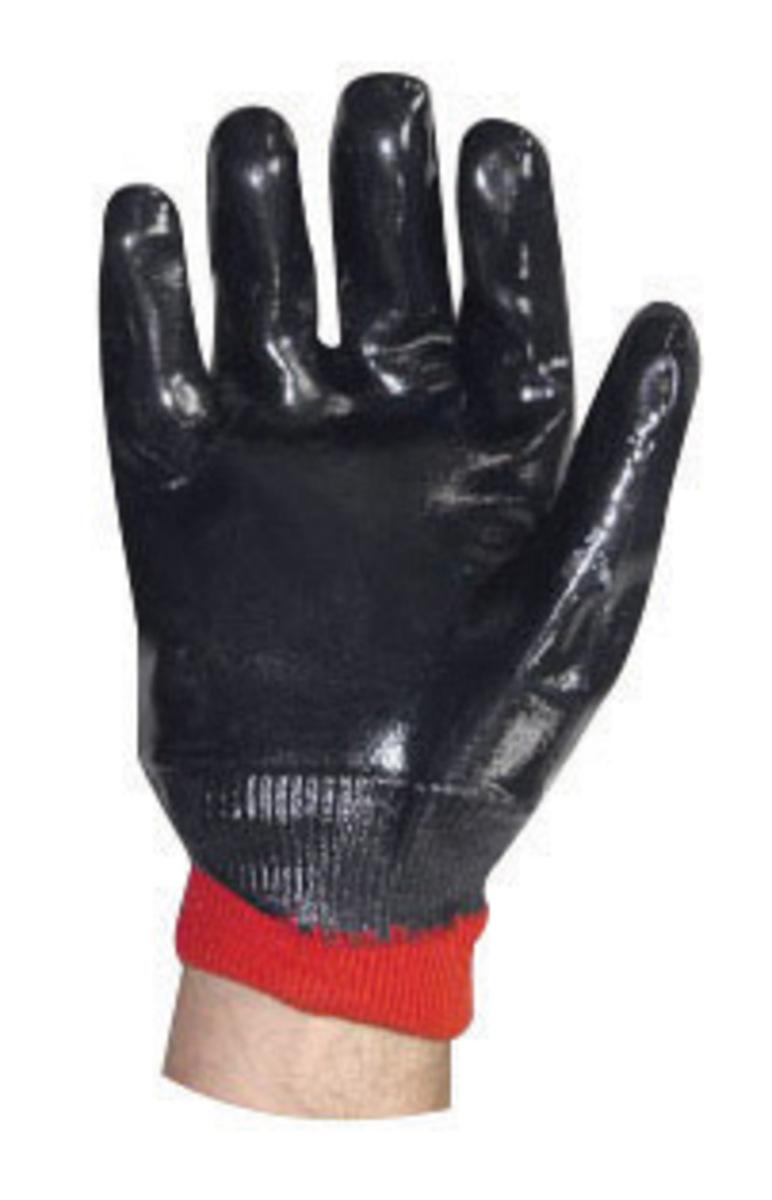 Gauntlet cuff leather work gloves - Showa 7199nc 10 Size 10 Nitri Pro Heavy Duty Cut Resistant Navy