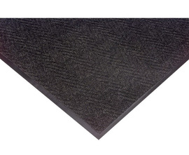Superior Manufacturing 3' X 6' Charcoal Cut Pile Decalon® Yarn Notrax® Indoor Entrance Anti-Fatigue Floor Mat With Vinyl Back