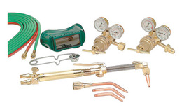 Harris® Model 43-9296-C Heavy Duty Acetylene/Oxygen Brazing/Cutting/Heating/Welding Outfit CGA-510/CGA-540 With Handle Equipped FlashGuard® Check Valves