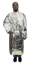 National Safety Apparel® Size 3X Silver Aluminized Acrysil Coat With Snap Front Closure