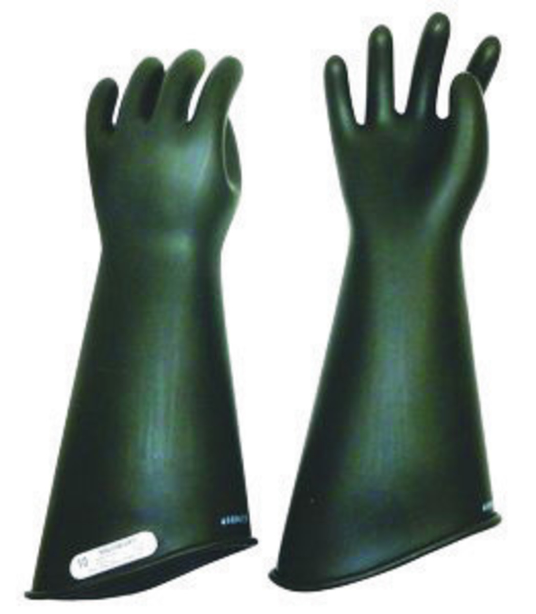High Voltage Rubber Gloves : Airgas w e cb salisbury by honeywell size