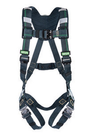 MSA X-Large EVOTECH® Arc Flash Full-Body Harness With Back Steel D-Ring, Quick-Connect Leg Straps And Shoulder Padding