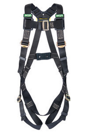 MSA X-Large Workman® Arc Flash Vest Style Harness With Back Web Loop And Tongue Buckle Leg Straps | Tuggl