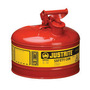 Justrite® 2 1/2 Gallon Red Galvanized Steel Type I Safety Can With 3 1/2