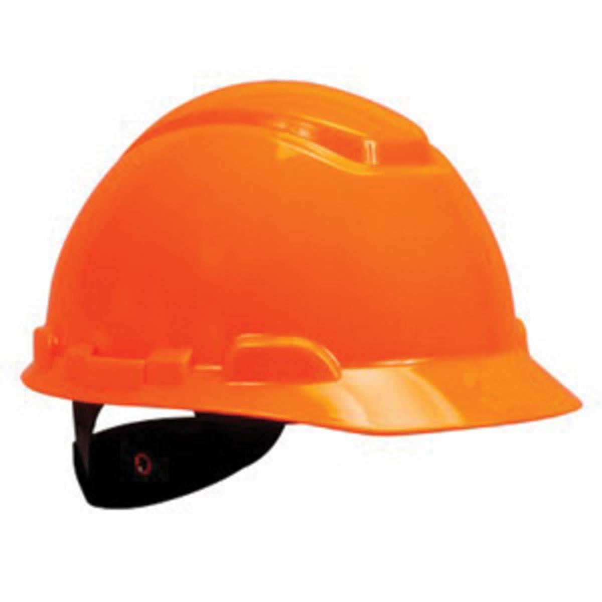 airgas 3mrh 707r uv 3m hi viz orange hdpe cap style hard hat with 4 point ratchet suspension. Black Bedroom Furniture Sets. Home Design Ideas