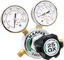 Harris® 25GX 0-250 PSIG CGA 580 Brass And Stainless Steel Single-Stage Specialty Gas Regulator