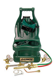 Radnor® Victor® Style Tote® Light-Duty Acetylene Brazing, Welding And Cutting Outfit With Cylinder Carrier ,CGA-200 (Cylinders Not Included)