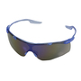 Radnor® Saffire™ Safety Glasses With Blue Frame And Blue Mirror Lens