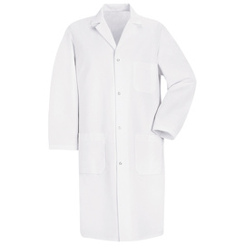 Red Kap® Medium/Regular White 5 Ounce Polyester/Cotton Lab Coat With Gripper Closure