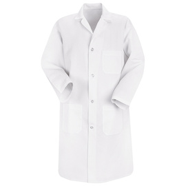 Red Kap® Small/Regular White Polyester/Cotton Jacket With Button Closure