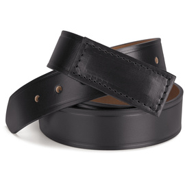 Red Kap® Small/Regular Black Leather Belt With No-Scratch Buckle Closure