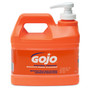 GOJO® 1/2 Gallon Bottle White NATURAL* ORANGE™ Citrus Scented Heavy Duty Hand Cleaner