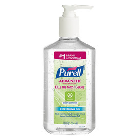 GOJO® 12 Ounce Bottle Clear PURELL® Fragrance-Free Hand Sanitizer