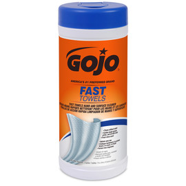 GOJO® 25 Count Canister Fresh Citrus Scented Heavy Duty Hand Cleaner Towels/Wipes