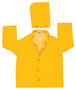 MCR Safety® Yellow Classic Plus .35 mm Polyester And PVC 2-Piece Jacket With Detachable Hood And Corduroy Collar