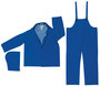 MCR Safety® Blue Classic Plus .35 mm Polyester And PVC 3-Piece Rain Suit With Detachable Hood, Bib Pants And Corduroy Collar