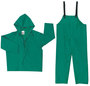 MCR Safety® Green Dominator .42 mm Polyester And PVC 2-Piece Rain Suit With Attached Hood And Bib Pants