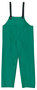 MCR Safety® Green Dominator .42 mm Polyester And PVC Bib Pants With Take Up Snaps On Ankles