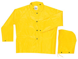 MCR Safety® Yellow Cyclone .35 mm Nylon And PVC 2-Piece Jacket With Detachable Hood