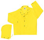 MCR Safety® Yellow Navigator .22 mm Nylon And Polyurethane 2-Piece Jacket With Detachable Hood