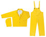 MCR Safety® Yellow Commodore .40 mm Polyester And PVC 3-Piece Rain Suit With Detachable Hood And Bib Pants