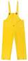 MCR Safety® Yellow Commodore .40 mm Polyester And PVC Bib Pants With Take Up Snaps On Ankles