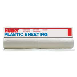 Poly America  Clear 4 Mil Polyethylene Husky Plastic Sheeting
