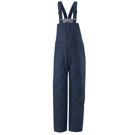 Bulwark® 2X Regular Navy Cotton Nylon Flame Resistant Bib Overall Cotton Lining With Zipper Closure