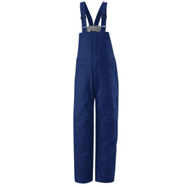 Bulwark® 2X Tall Royal Blue Cotton Nylon Flame Resistant Bib Overall Cotton Lining With Zipper Closure
