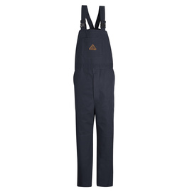 Bulwark® 2X Regular Blue Cotton Nylon Flame Resistant Bib Overall With Zipper Closure