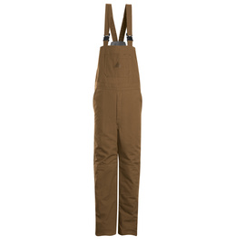 Bulwark® X-Large Regular Brown Duck Cotton Nylon Flame Resistant Bib Overall Cotton Lining With Zipper Closure