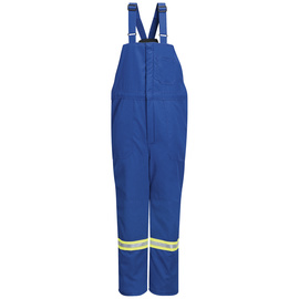 Bulwark® 3X Regular Royal Blue Nomex® IIIA Flame Resistant Bib Overall With Zipper Closure