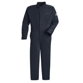 Bulwark® 56 Tall Navy Blue EXCEL FR® Twill Cotton Flame Resistant Coveralls With Zipper Front Closure