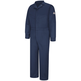 Bulwark® 44 Tall Navy Blue EXCEL FR® ComforTouch® Sateen/Cotton/Nylon Water Repellent Flame Resistant Coveralls With Zipper Front Closure