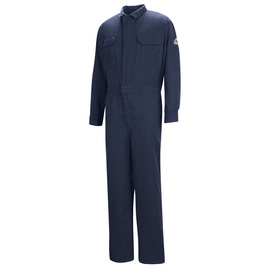 Bulwark® Regular Navy Modacryclic® Lyocell Aramid Flame Resistant Coverall With Zipper Closure