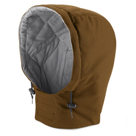 Bulwark® Regular Medium Brown Duck Cotton Duck Flame Resistant Hood Cotton Lining With Hook And Loop Closure