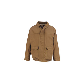 Bulwark® 2X Regular Brown Duck Cotton Nylon Duck Flame Resistant Jacket Duck Modacrylic® Lining With Zipper Closure