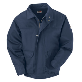 Bulwark® X-Large Regular Navy Cotton Nylon Flame Resistant Jacket Cotton Lining