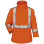 Bulwark® 3X Regular Orange Cotton Nylon Flame Resistant Jacket Cotton Lining With Zipper Snap Closure