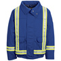 Bulwark® 2X Regular Royal Blue Nomex® Aramid Kevlar® Aramid Flame Resistant Jacket Nomex® Lining With Zipper Snap Closure